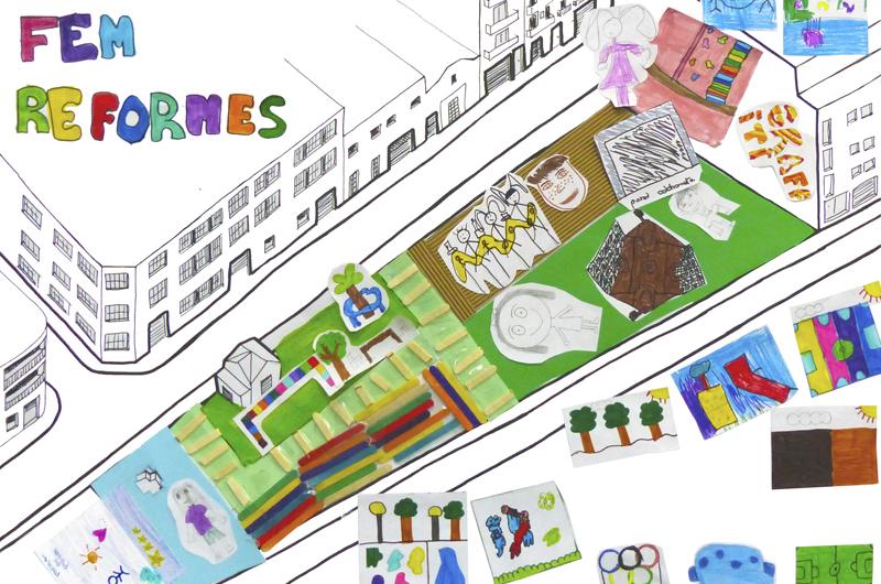 Tallers a l'escola_Fem dissabte a la Plaça d'en Baró_Equal Saree_10