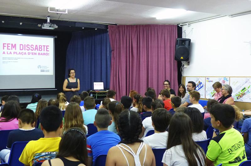 Tallers a l'escola_Fem dissabte a la Plaça d'en Baró_Equal Saree_05