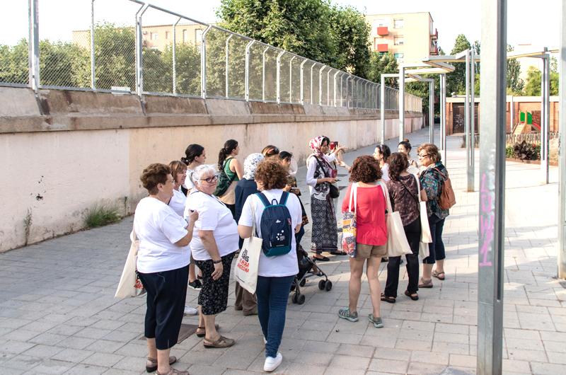Equal Saree Barcelona urbanismo arquitectura feminista género marxa exploratòria espacio público