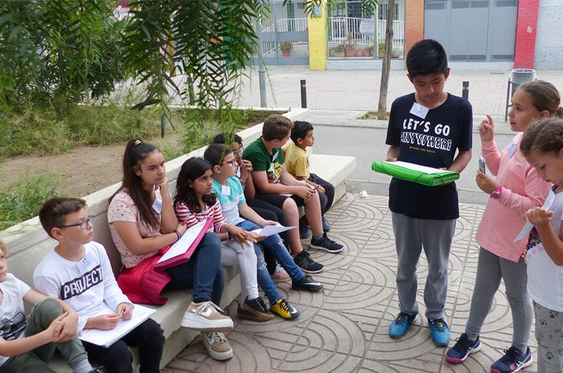Salzelúdic_Explorem el passeig_Posada en comú_Escola Santa Coloma_Equal Saree 3